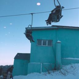 freetoedit blue bluemood winter sky