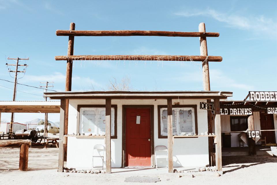 #desert #ghosttown #deserted #vintage #retro #rustic #highway #building #ranch #blue #wood #interesting