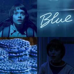 freetoedit strangerthings willbyers picsart azul