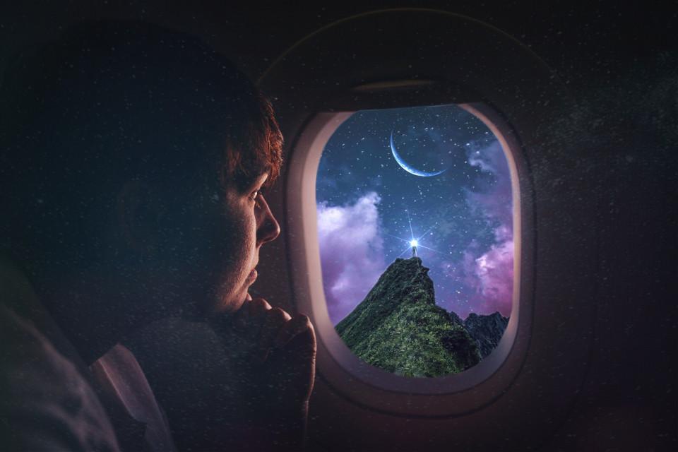 #freetoedit #galaxy @pa #remixed #remixes #remixedwithpicsart #madewithpicsart #sky #plane #airplane