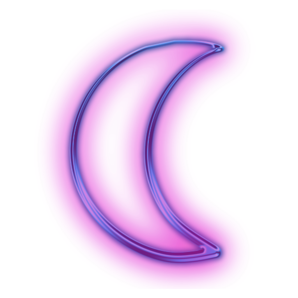 Tumblr Mor Purple Ay Neon Hologram Moon