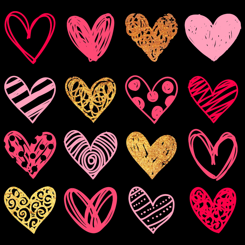 hand hearts drawing