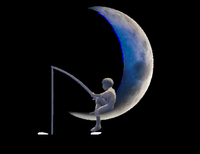 #ftestickers #dreamworks #moon #people #boy #fishing #crescent