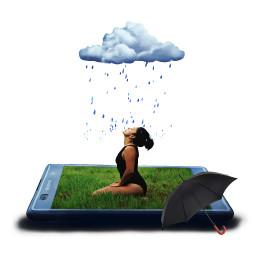 freetoedit edited clouds raining umberella