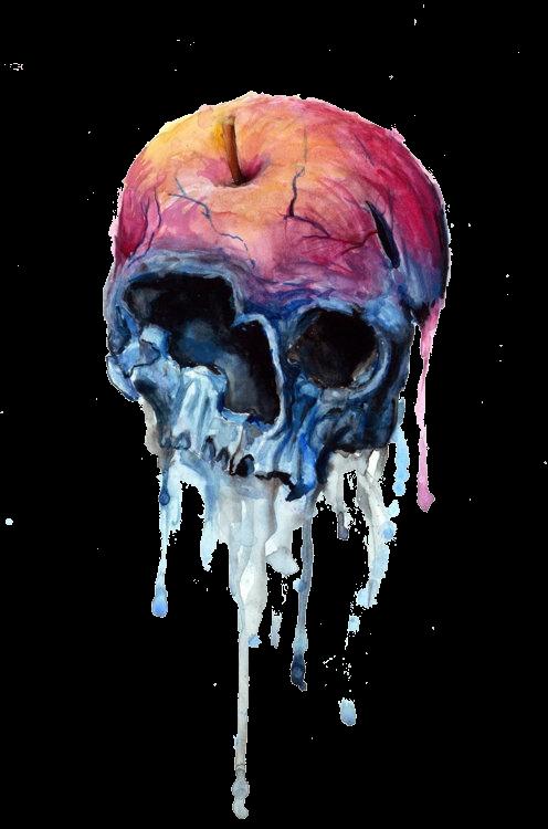 Skull Skullface Transparent Smoke Dustftestickers Freet