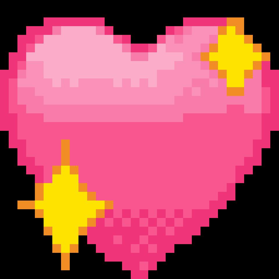 Heart Emoji Pixelart Pixel