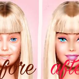 beforeandafter barbie lifeinthedreamhouse