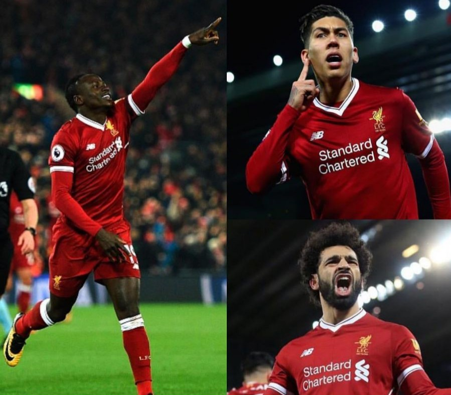 Liverpoolfc Firmino Mane Salah Premierleague