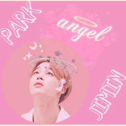 freetoedit jimin bts pink pastel