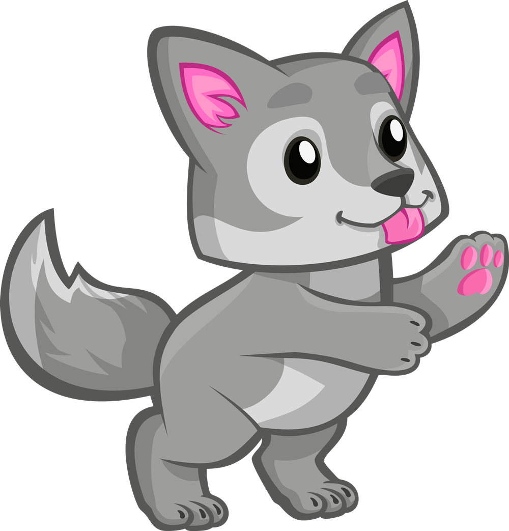cute wolf wolves baby freetoedit.