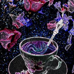 freetoedit remix tea flowers floral