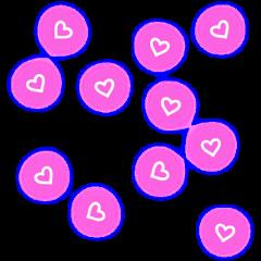 neon hearts neonlights neonhearts pattern freetoedit