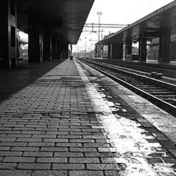 vogliadipartire treno stazione roma fotoartistica
