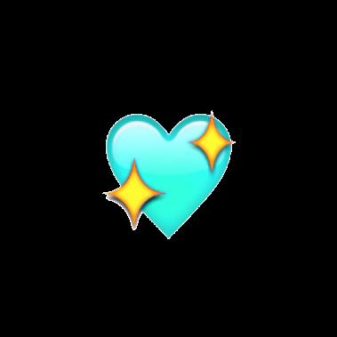 teal emoji emojis emojiedit aesthetic blue sparkles hea