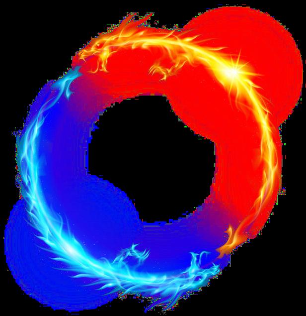 dragon fire ice light circle yellow blue magic ftestick fireball clip art gif fireball image clipart