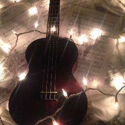 ukulele lights music sheetmusic notes