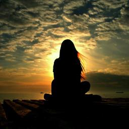 freetoedit alone alonegirl eveningsky