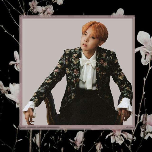 🌸Jung Hoseok🌸 #hoseok #btsedit #flower #black #pink #model #jhopebts #jhope #kpop #kpopidol #wings
