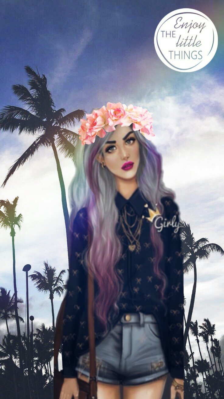 freetoedit wallpaper girl tumblr girly m flower