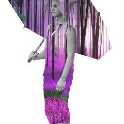 freetoedit umbrellagirl doubleexposure