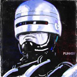 punksy artist painter illustrator robocop