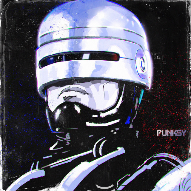 RoboCop 1987 #punksy #artist #painter #illustrator #robocop #retrowave #synthpop #80s #eighties