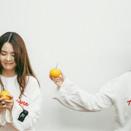 her cute myfriend orange