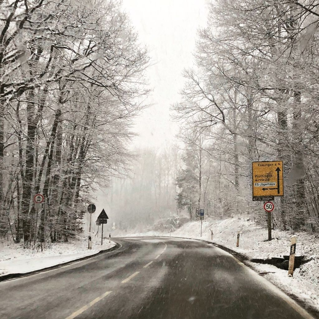 #snow #germany #photography #road