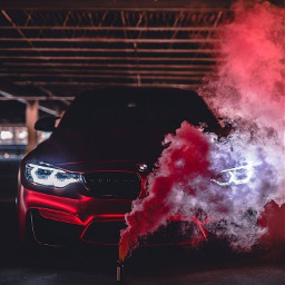 bmw car red black lights freetoedit