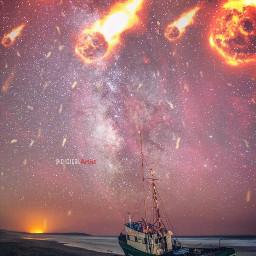 meteoritos shower boat stranded dream