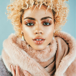 FreeToEdit girl people curly blond portrait young fashion