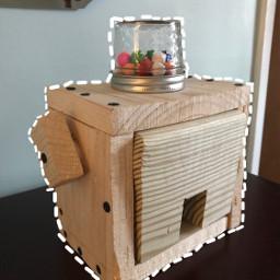 freetoedit gumballmachine imadethis wood masonjars