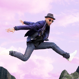 jr freetoedit jump clouds mountains