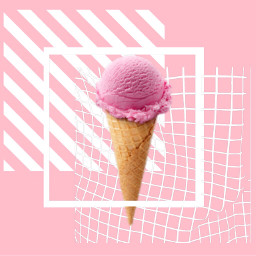 sweet icecream cone icecreamcone pink freetoedit