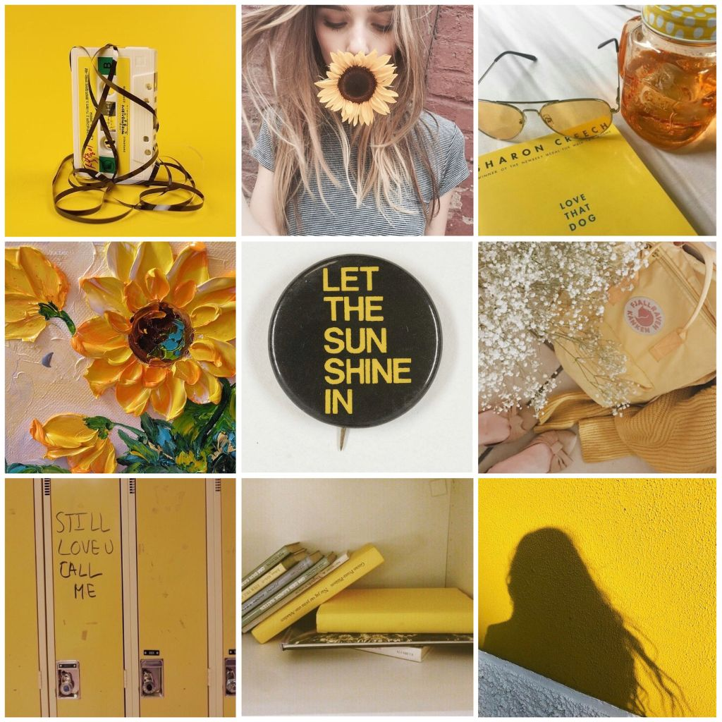 Yellow Aesthetic Collage Moodboard Tumblr Quotes Locker