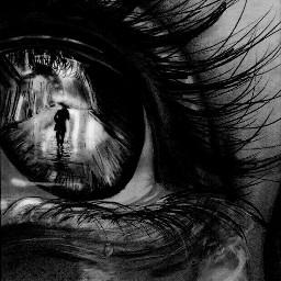 eyes blackandwhite sad cry