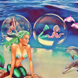 freetoedit stickersedit mermaids fantasy underwater