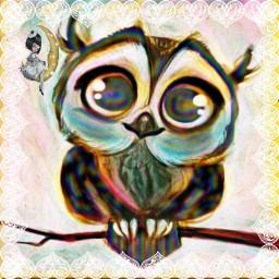 freetoedit owl newbrushtool heartframe girlonmoon