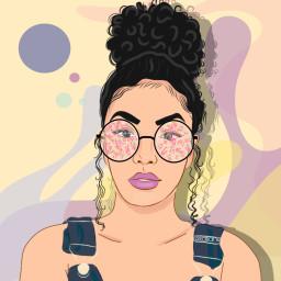 glassesstickerremix freetoedit dailysticker background womansticker