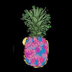 pineapple piña estampado flores freetoedit