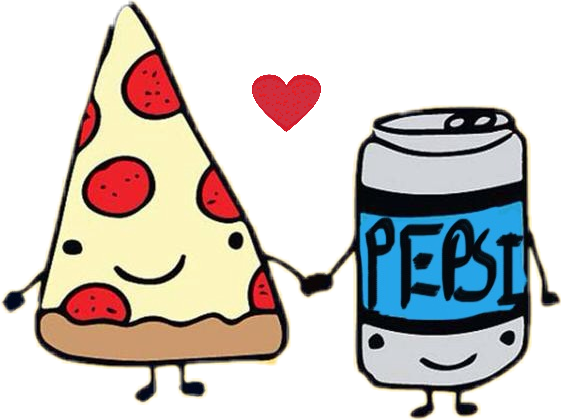 Comida Love Amor Kawaii Pizza Bebida
