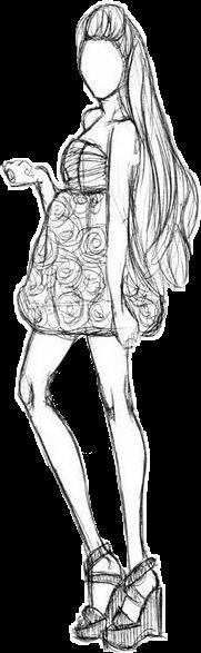 #dress #dressup #doodleart #disney #doodleface #blackandwhite #people #people #girl #woman#FreeToEdit #blackandwhite