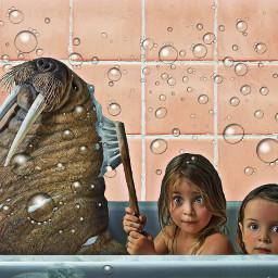 freetoedit funny kids tilefloorremix