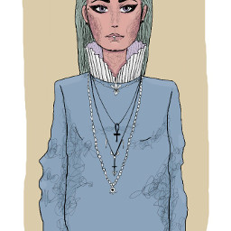 freetoedit green dibujo greenhair ilustracion