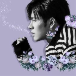 zuhosflowercontest got7 jackson kpop jacksonwang flowers purple