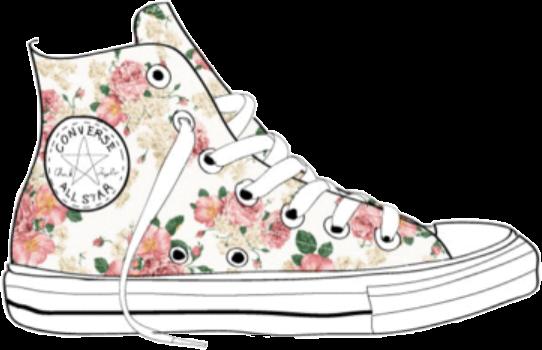 zapatillas converse con flores