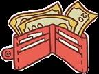 wallet money red cash freetoedit