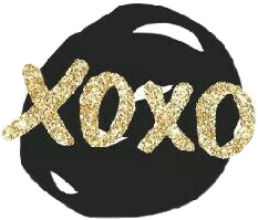 xoxo black golden like pretty freetoedit