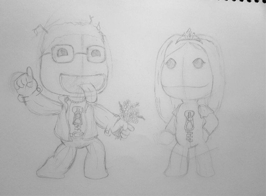 #freetoedit  #wip #littlebigplanet #sketch #nofeature #drawing #game #videogame #illustration #pencil