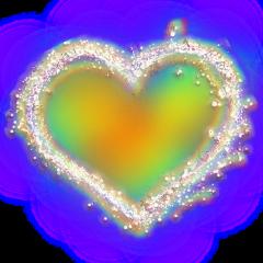 floralheart newbrushrainboweffect freetoedit